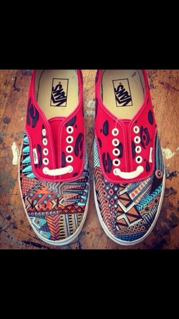 shoes vans aztec tribal pattern tribal pattern
