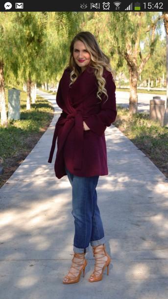coat oxblood