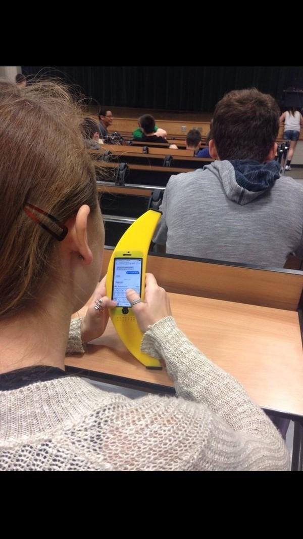 underwear phone cover banana print
