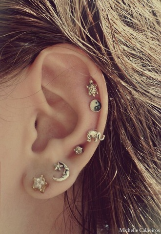 jewels earings moon boho stars elephant turtle
