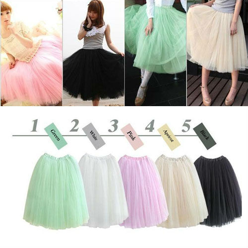 HOT! Women Princess Fairy Style 5 layered Tulle Bouffant Skirt YSK 00796-in Skirts from Apparel & Accessories on Aliexpress.com