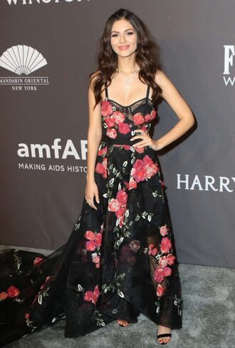 dress victoria justice floral floral dress gown prom dress long dress maxi dress