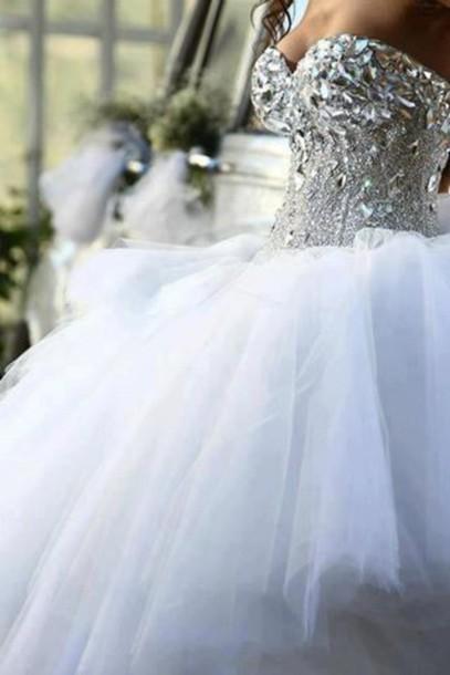 dress bling corset wedding dress wedding princess wedding dresses wedding dress white dress white dresses for brides ball gown dress