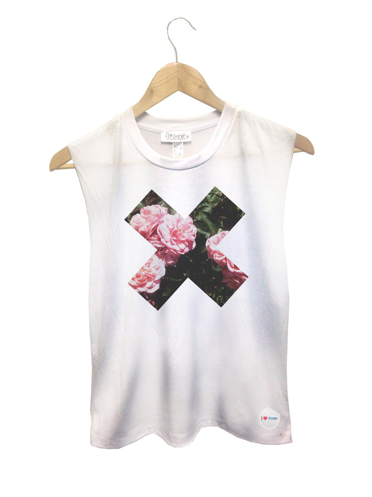 Floral X Muscle Tanks - Fresh-tops.com