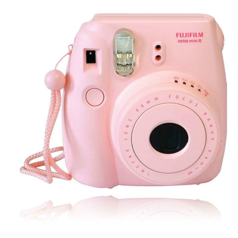 New Fuji Instax Mini 8 Pink Fujifilm Instant Camera 074101102253   eBay