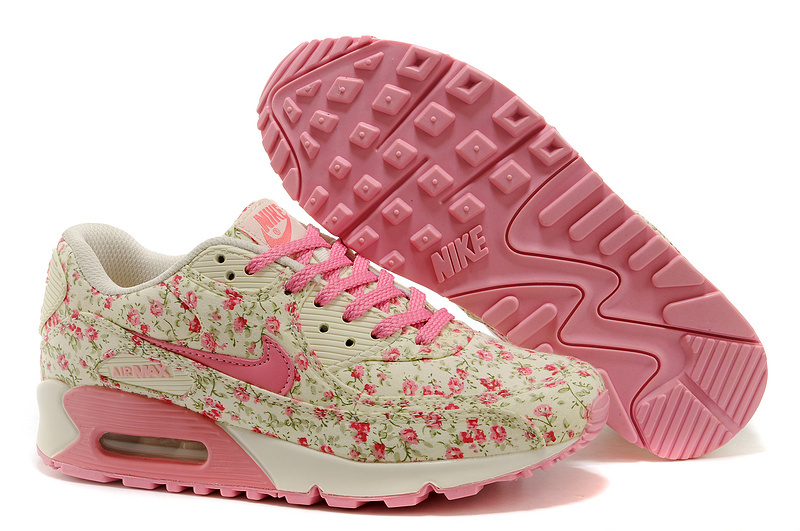 Free shipping! 2014 new style floral   Nike Air Max 90 women's basic running shoes, NIKE AIR MAX90 woman sneakers-in Running Shoes from Sports & Entertainment on Aliexpress.com