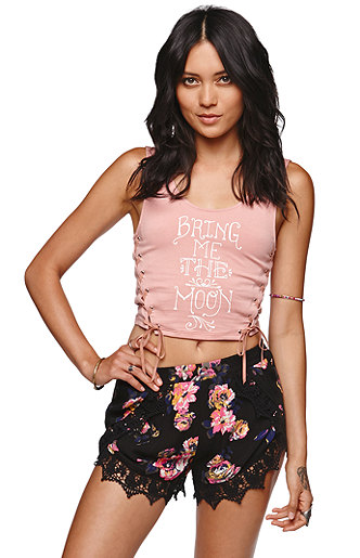 Kendall and Kylie Wrap Tulip Shorts at PacSun.com