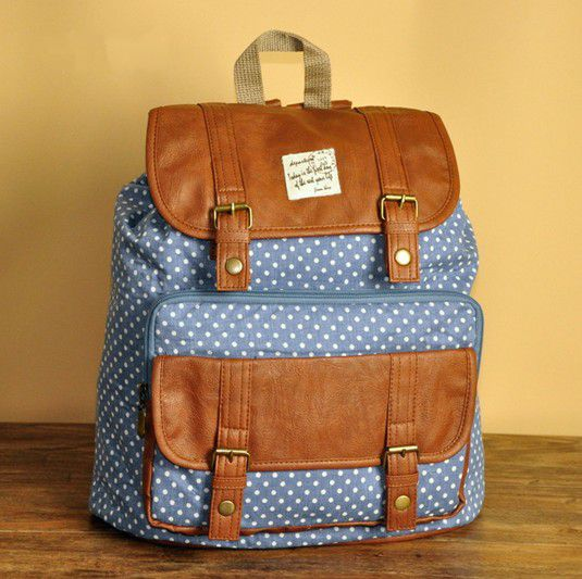 Blue Polka Dots Backpack - C on Luulla