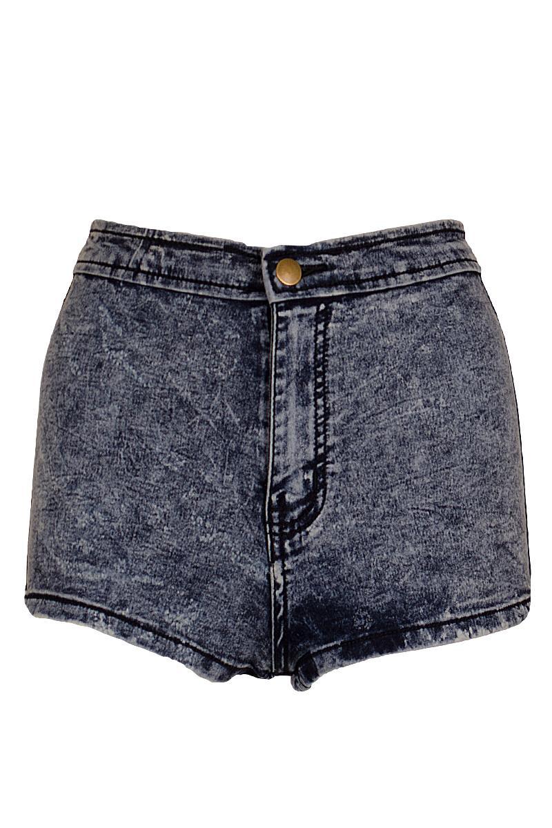 Denim Tap Hotpant Shorts Acid Wash Highwaisted Slim Form Fitting Denim Shorts | eBay