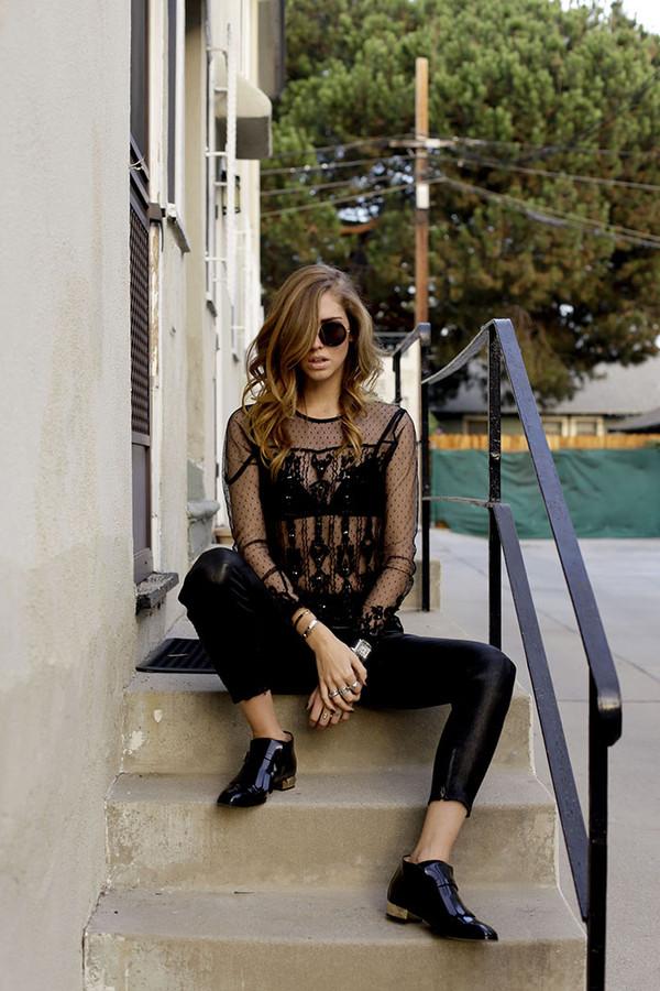 the blonde salad shoes pants t-shirt sunglasses jewels