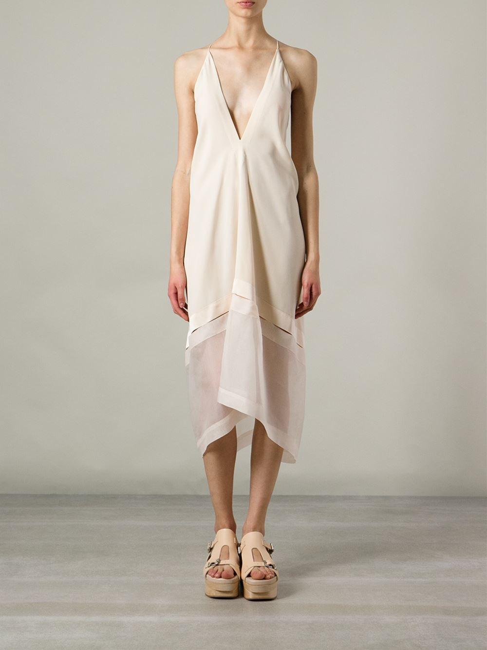 Stella Mccartney Plunge Neck Dress - Mcmarket Monaco - Farfetch.com