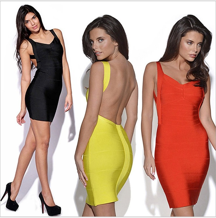 HOT Sexy Dress Best Selling 2014 New Arrival Backless bodycon dress club party wear sexy Ladies Bandage dresses sexy dresses-in Dresses from Apparel & Accessories on Aliexpress.com