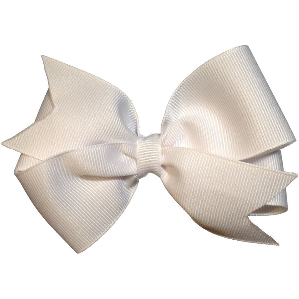 4 inch white hair bow - white bow - Polyvore