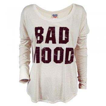 Junk Food Ladies Bad Mood Long Sleeve T Shirt Sugar