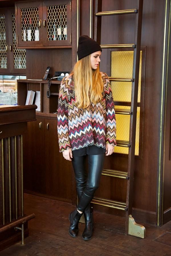 bonsoir cherie sweater blouse shoes hat