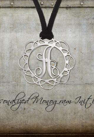 Personalized Monogram Initial necklace - 1.20