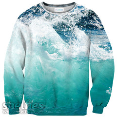 Ocean Wave Sweater – Shelfies - Outrageous Sweaters