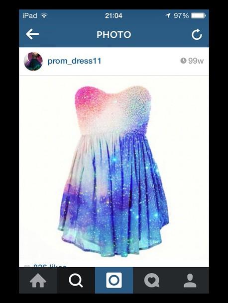 dress galaxy short dress