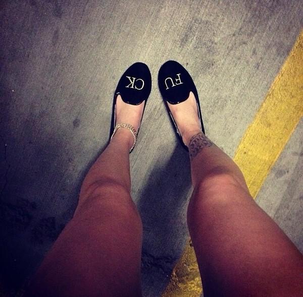 shoes lil debbie black flats fvck