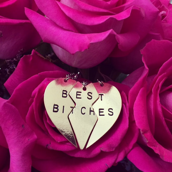 Best Bitches Necklace by Verceli on Etsy
