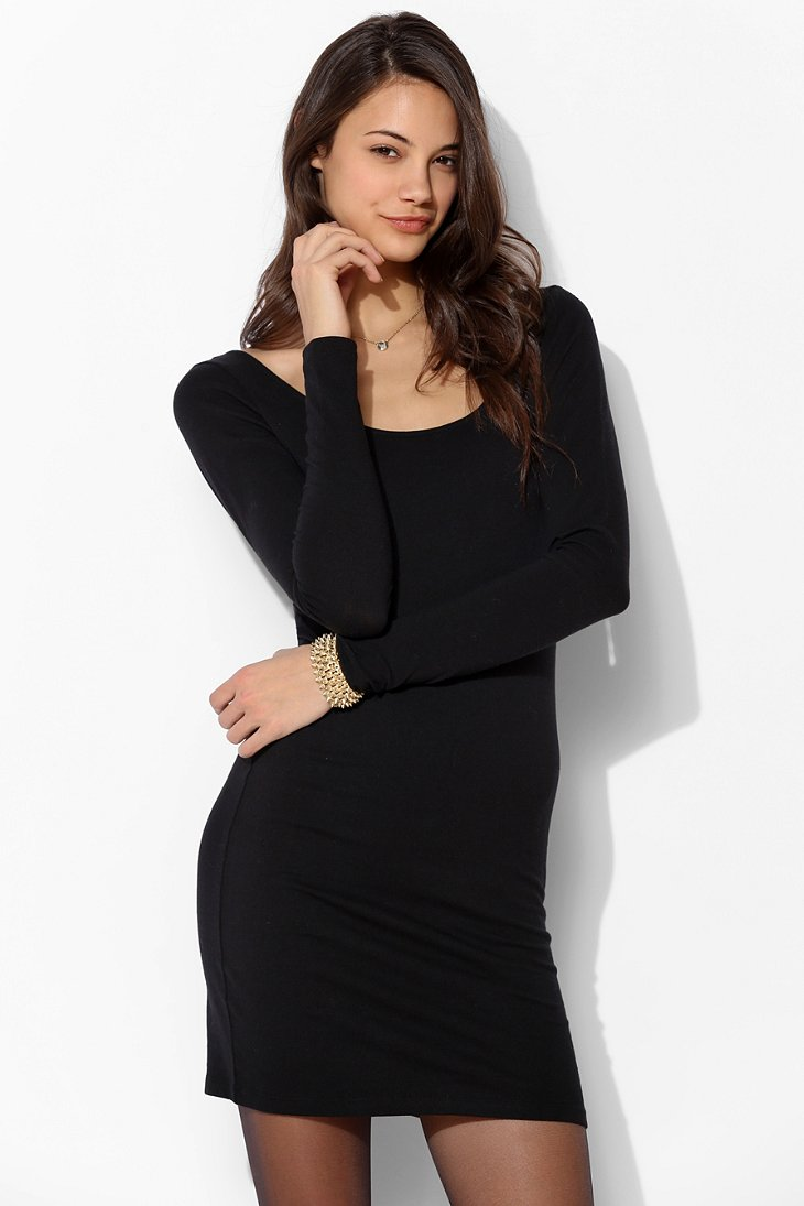 Sparkle & Fade Scoop-Back Bodycon Dress  - Urban Outfitters