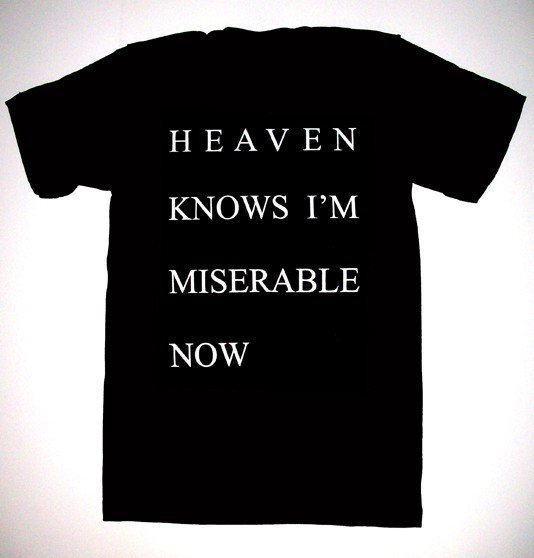 Heaven Knows I'm Miserable Now T Shirt S, M, L, XL the smiths morrissey on Wanelo