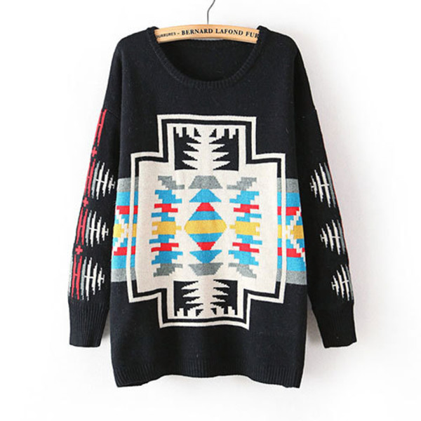 sweater loose colorful