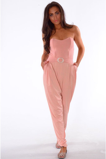 Ladies Eneco Bandeau Style Jumpsuit In Nude at Pop Couture UK