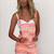 Orange Jump Suits/Rompers - Neon Zig Zag Print Overalls | UsTrendy