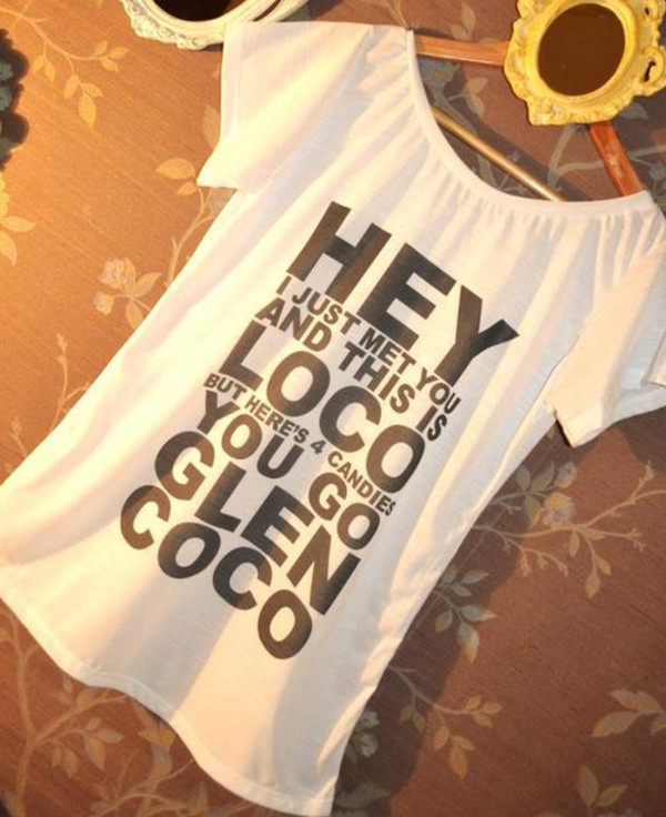 t-shirt glencoco glen t-shirt shirt white mean girl candy movie clothes mean girls glen coco skreened