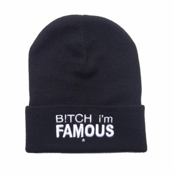 hat beanie accessories quote on it letters