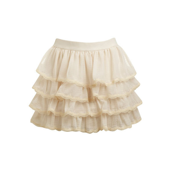 Lace Tiered Mini Skirt - Teen Clothing by Wet Seal - Polyvore