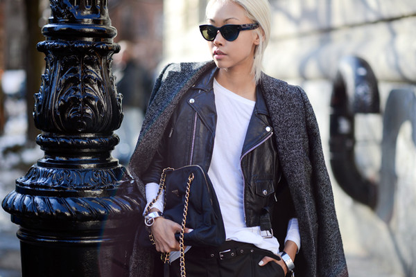 the haute pursuit coat jacket t-shirt shoes bag jewels sunglasses