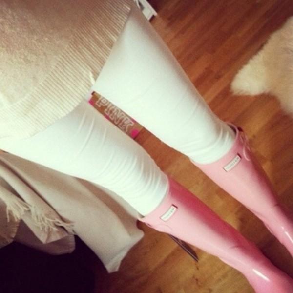 shoes pink rainboots