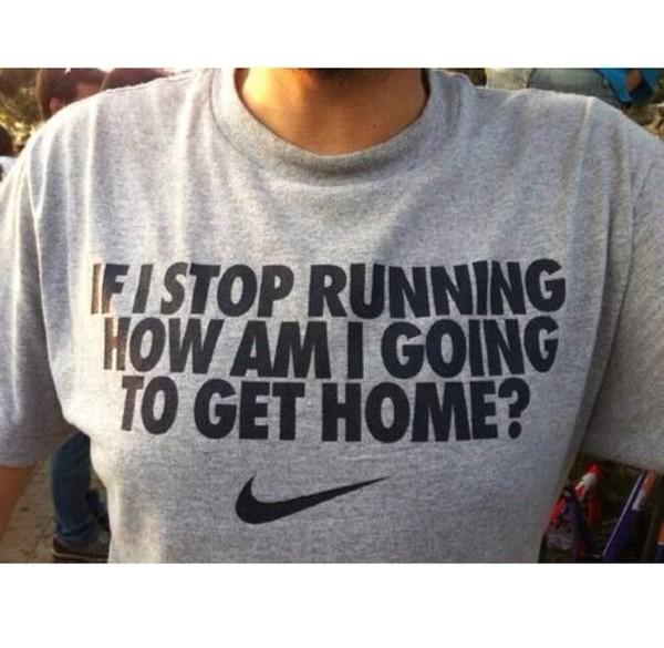 t-shirt grey nike running