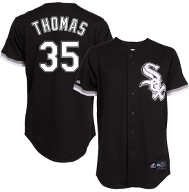 Majestic Men's Chicago White Sox Frank Thomas #35 Alternate Black Cooperstown Replica Jersey - Dick's Sporting Goods