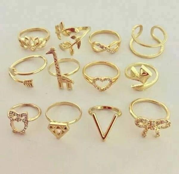 jewels infinity bague gold diamonds