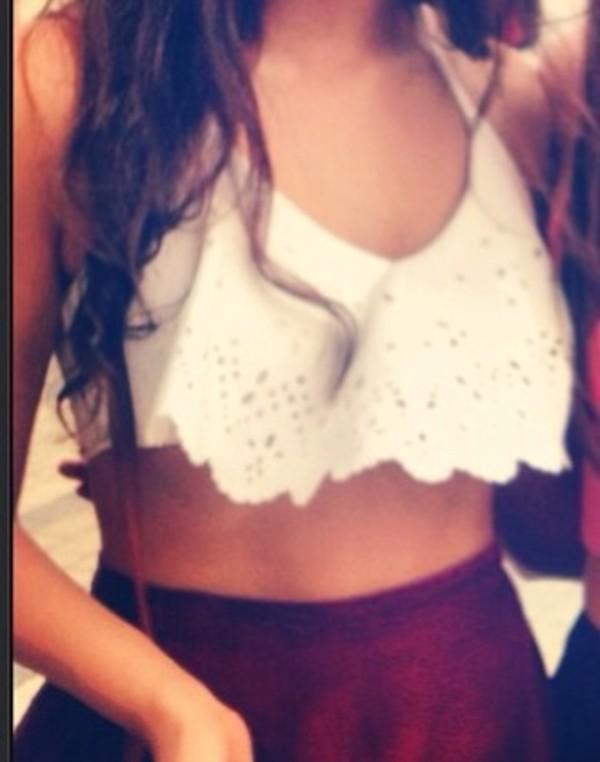 shirt tank top crop tops mini top bikini white white tank top
