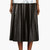 blk dnm black leather pleated skirt