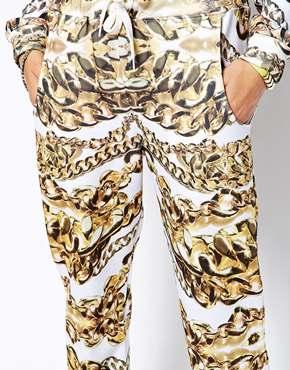 Jaded London | Jaded London Skinny Sweatpants With Metalic Chain Print at ASOS