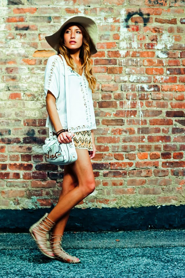 the marcy stop top shorts jewels hat bag shoes