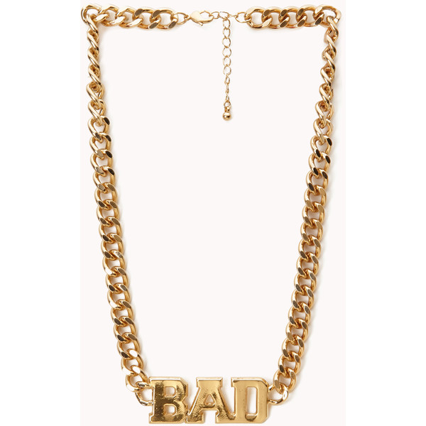 FOREVER 21 Statement Bad Necklace - Polyvore