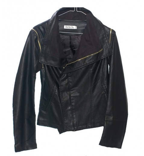 Fitted Leatherette Jacket  - Leather Jackets - Outerwear - Clothing