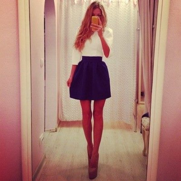 skirt girl clothes clothes fashion style dress top party stylish blogger pretty cute pants heel shoes shirt blue skirt black