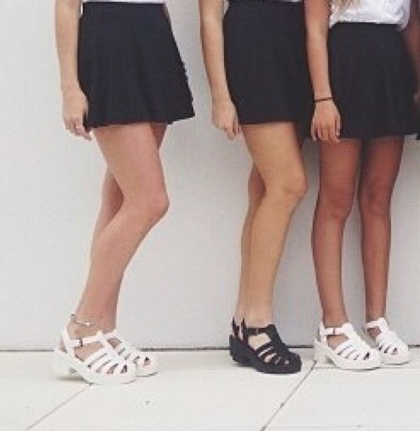 shoes sandals wedges summer black white strappy sandals straps wedge sandals heels heel platform shoes white sandals
