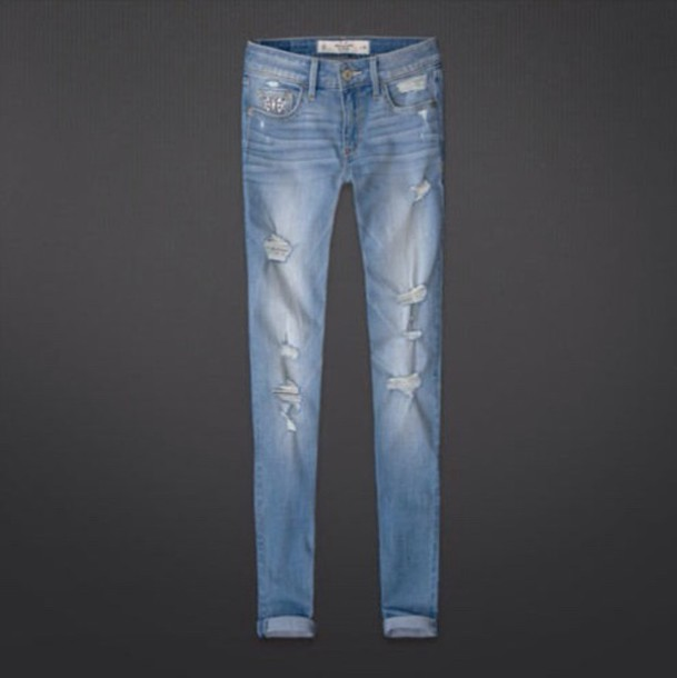 jeans ripped hollister