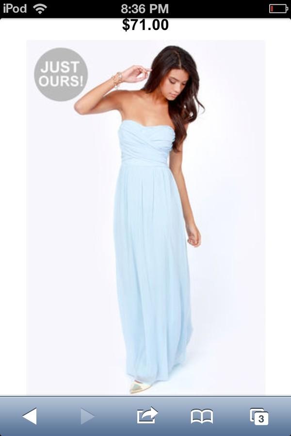 dress maxi dress blue dress chiffon