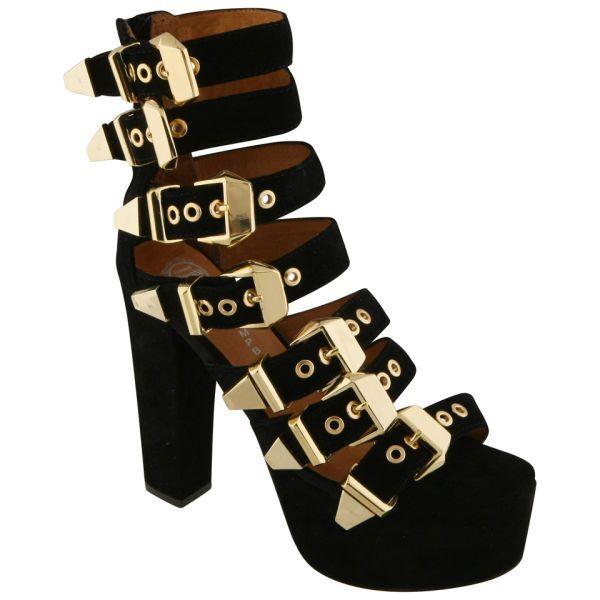 Jeffrey Campbell Womens Donata Buckle Detail Suede Heels | eBay
