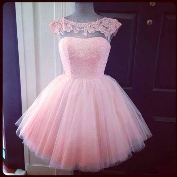 dress pink floral pastel prom short prom dress transparent baby pink lovely prom dress sprakles evening dress homecoming dress formal dress maxi dress pink dress lace dress prom dress nice girl lace heart dress top sparkly dress short dress