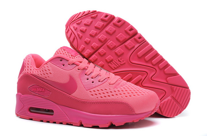 Nike Air Max 90 2013 Womens Knitting All Pink|Air Max 90 Women Shoes Sale|Nike Air Max 90